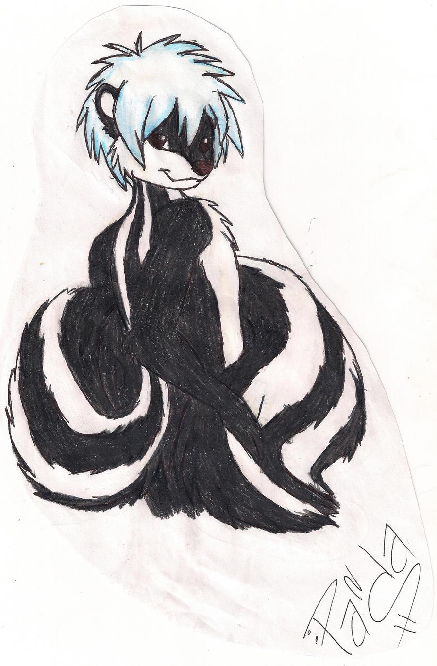 skunk furry by pandagorans on deviantart