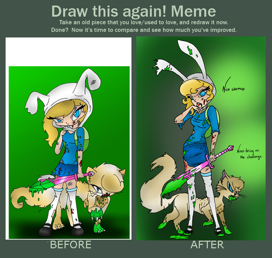 Draw this again fusion fall fionna and cake by mama monstrosity on draw this again fusion fall fionna and cake by mama monstrosity voltagebd Gallery
