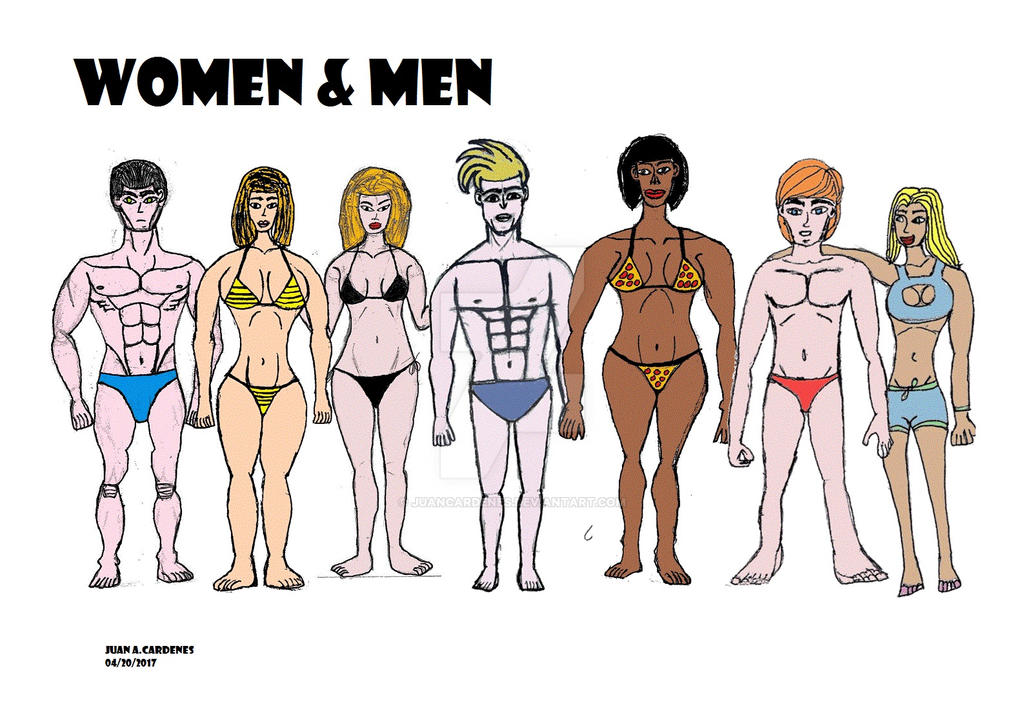 Women and Men Drawing by Juancardenes