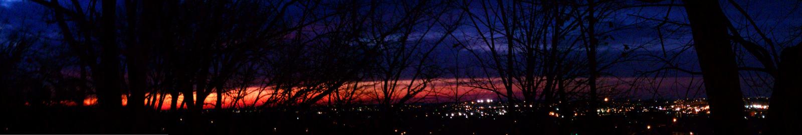 Sunset Panorama Huge by HeavyMetalWaterfall