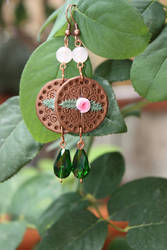 Rose - earrings