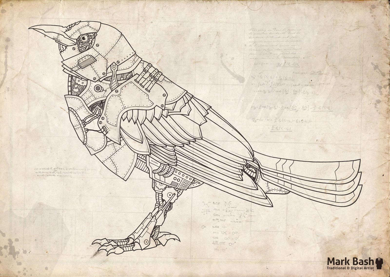 The Mechanical Bird by Mark-Bash on DeviantArt
