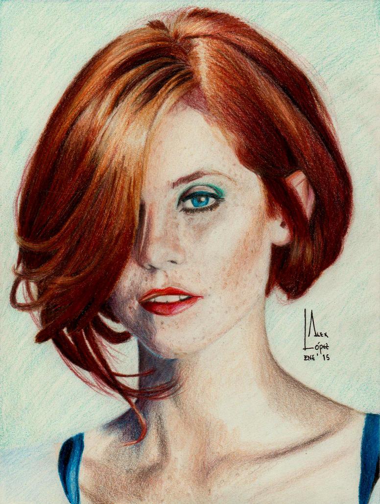 Redhead Girl - Color Portrait by SubliminAlex