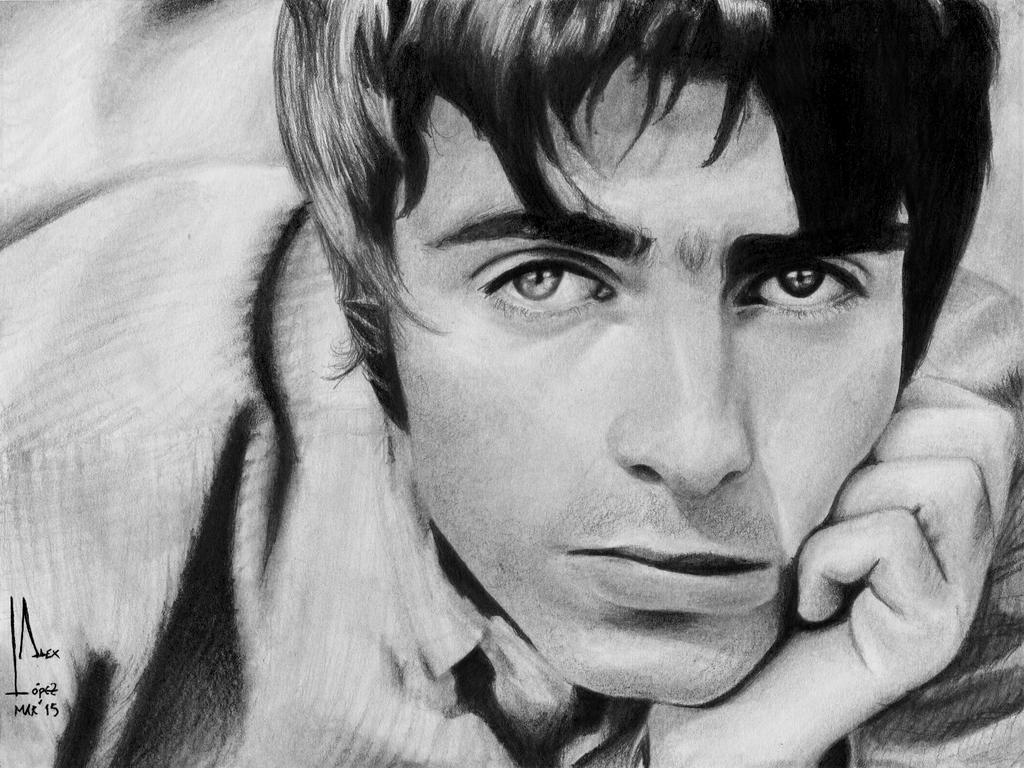 Liam Gallagher - B and W Portrait by SubliminAlex