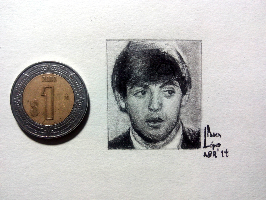 Paul McCartney - Miniature Portrait by SubliminAlex