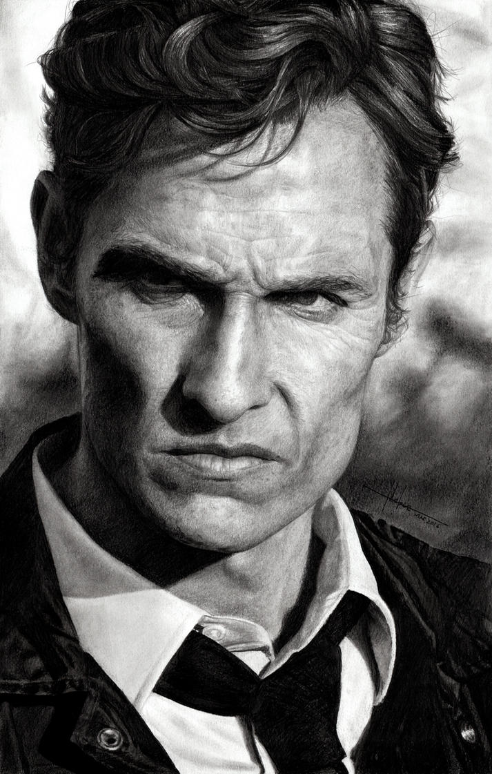 Rust Cohle - Matthew McConaughey in True Detective by SubliminAlex