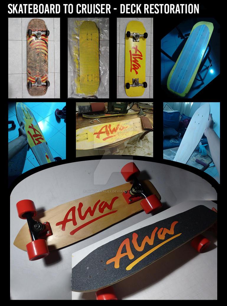 Skateboard to Cruiser - Deck Restoration by SubliminAlex