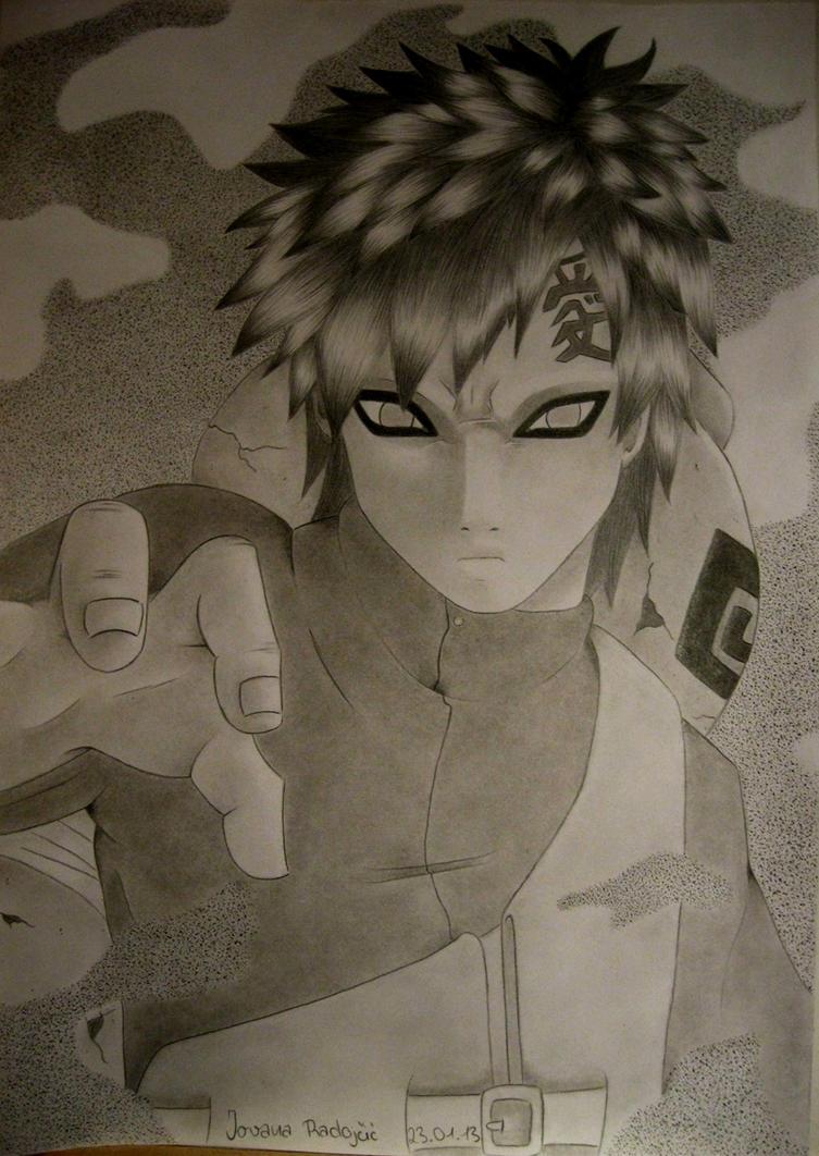 Naruto: Gaara as Kazekage by TrunksJovi
