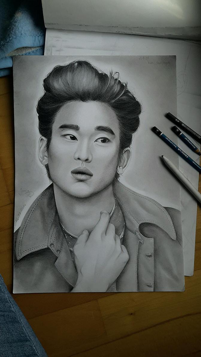 Kim Soo-hyun drawing by TrunksJovi