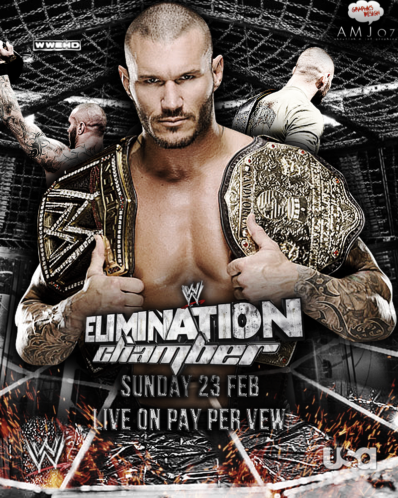 Elimination Chamber Poster Feat. Randy Orton! by AMJ07