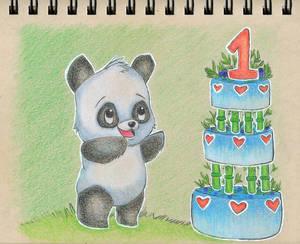 Day 4: Green Bamboo Cake