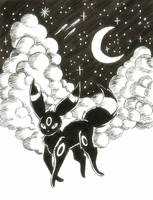 The Moonlight Pokemon by sketchwithtiff