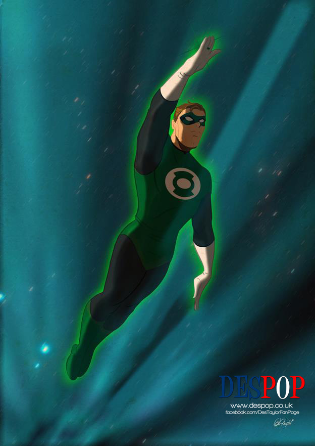 The Green Lantern exits hyperspace. by DESPOP