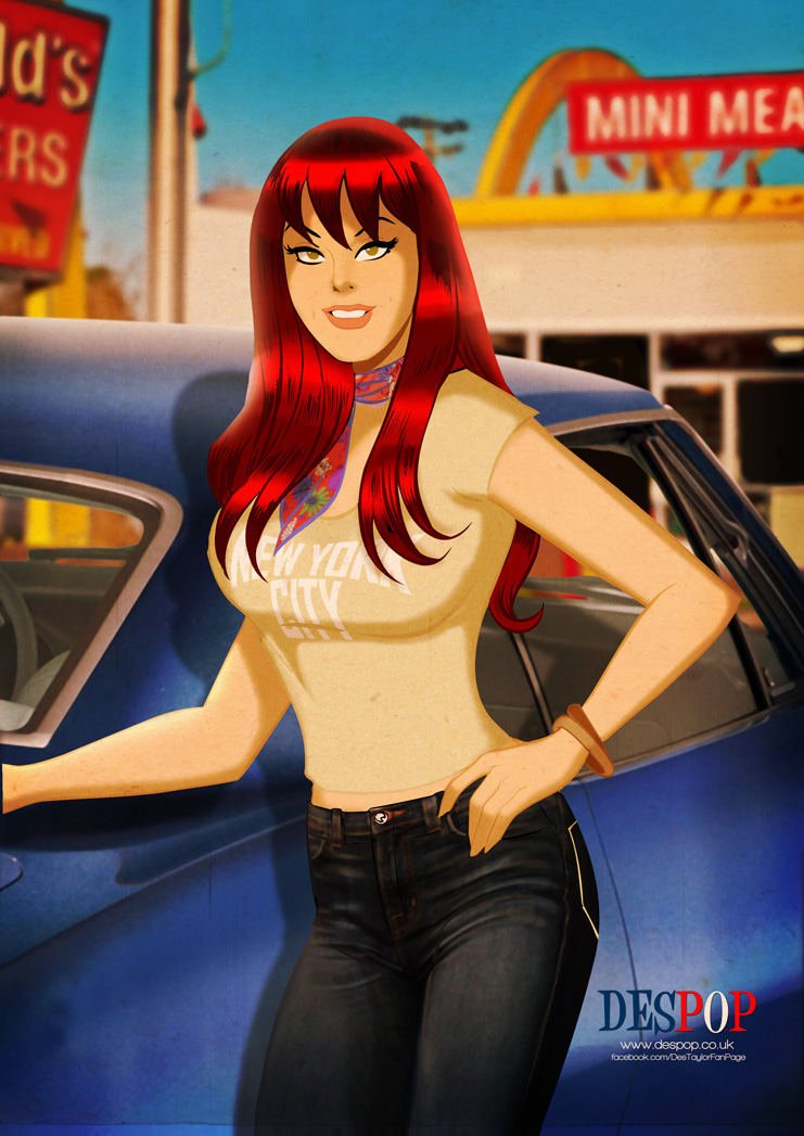 Mary Jane Watson circa 1977 by DESPOP