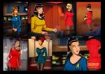 Star Trek- All female crew of the USS Aphrodite