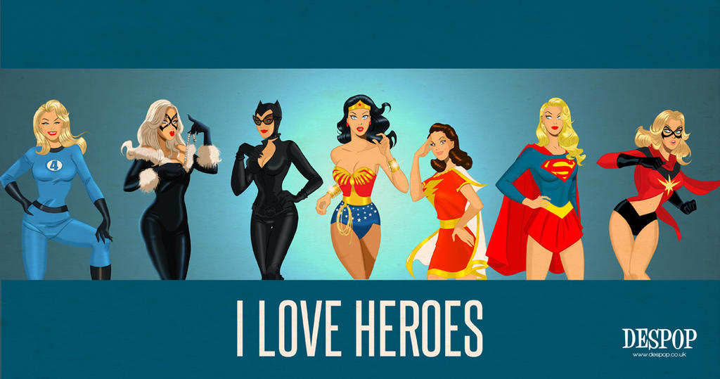 Ilove Superheroes by DESPOP
