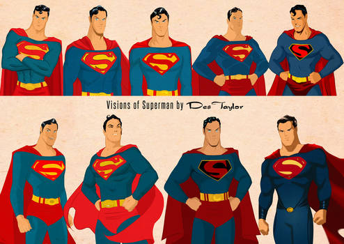 Superman Visions by Des Taylor