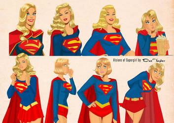 Visions of Supergirl by Des Taylor by DESPOP