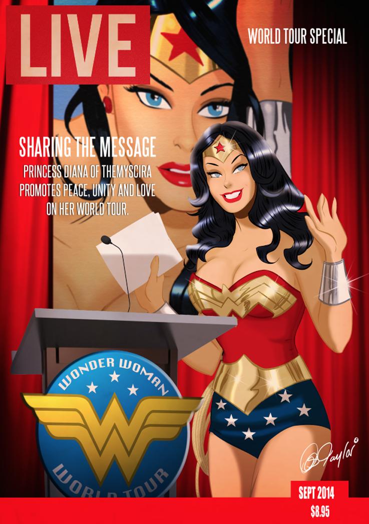Wonder Woman LIVE magazine by DESPOP