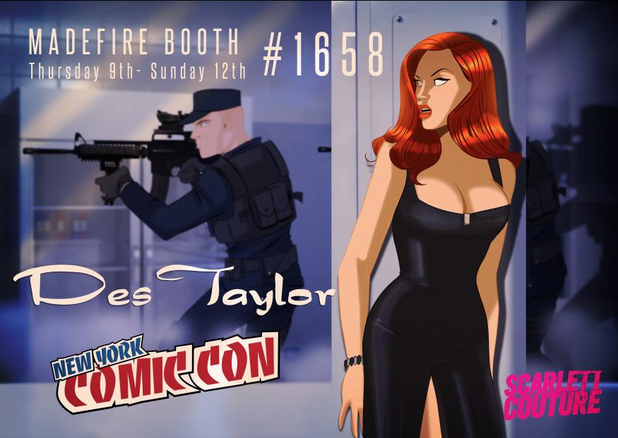 Des Taylor at NYC Comic Con 2014 by DESPOP
