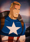 Captain America By Des Taylor