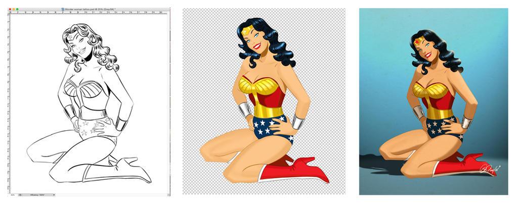Wonder Woman by Des Taylor Color process by DESPOP