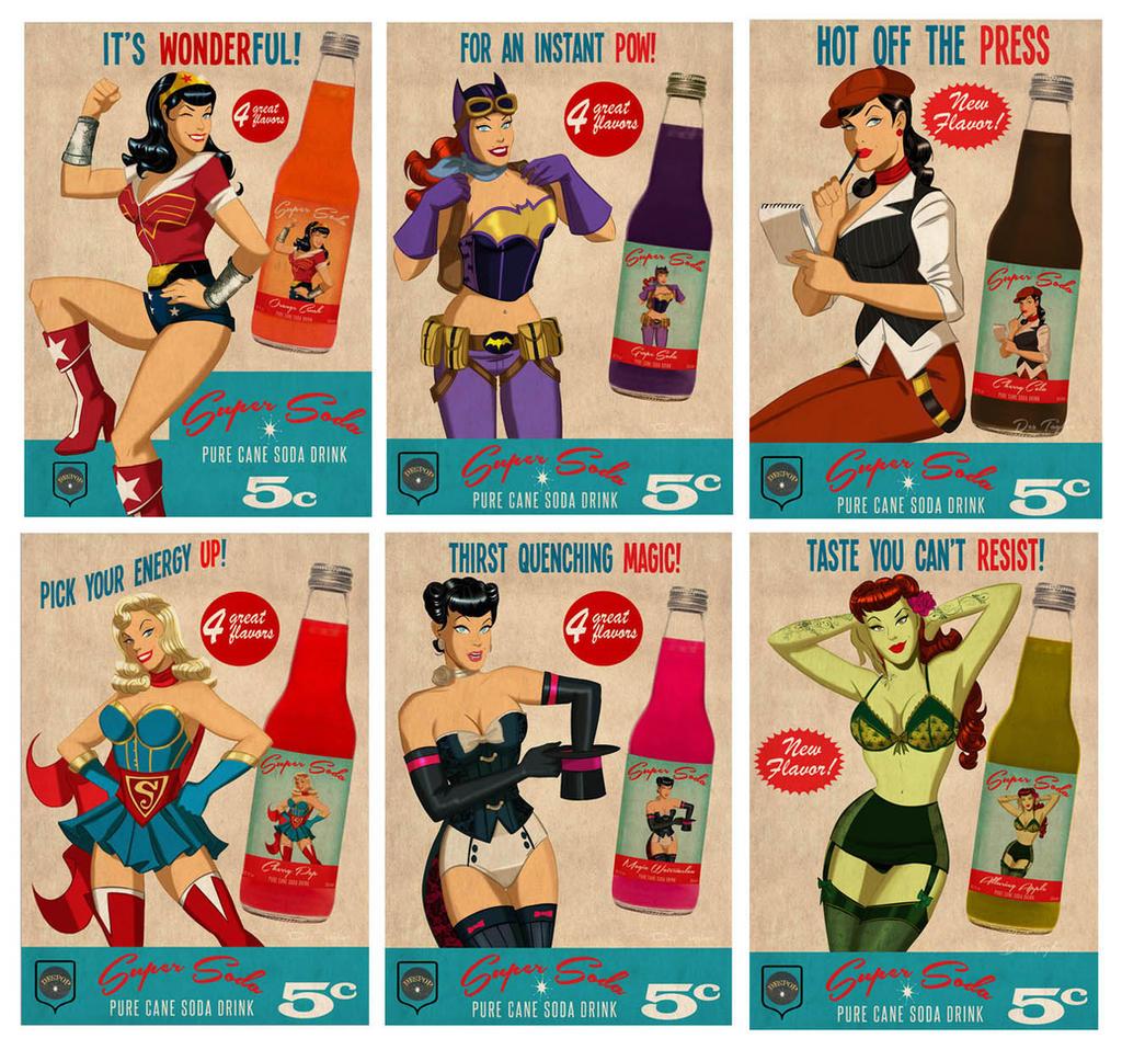 Super Soda Bombshell Girls by DESPOP