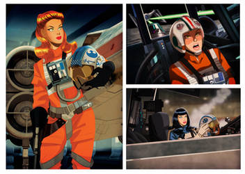Female X-Wing Pilots by Des Taylor by DESPOP