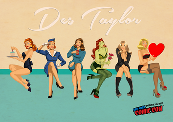 Des Taylor Pin Ups by DESPOP