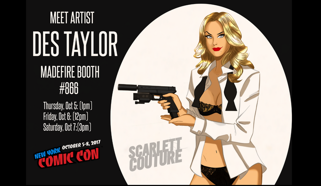 Des Taylor signing at New York Comic Con by DESPOP