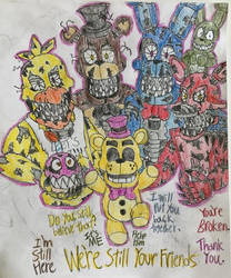Friends till the very END (FNAF AU-1983) by WitheredFreddy1993