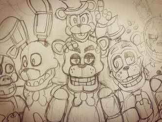 Custom Night #1: (Preview WIP) by WitheredFreddy1993
