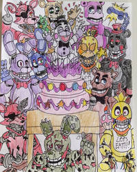 Happy Fourth Anniversary!! (2014-2018) by WitheredFreddy1993