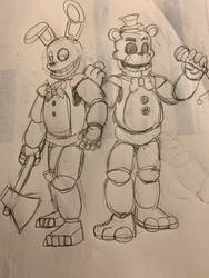 The Golden Duo from the Past by WitheredFreddy1993