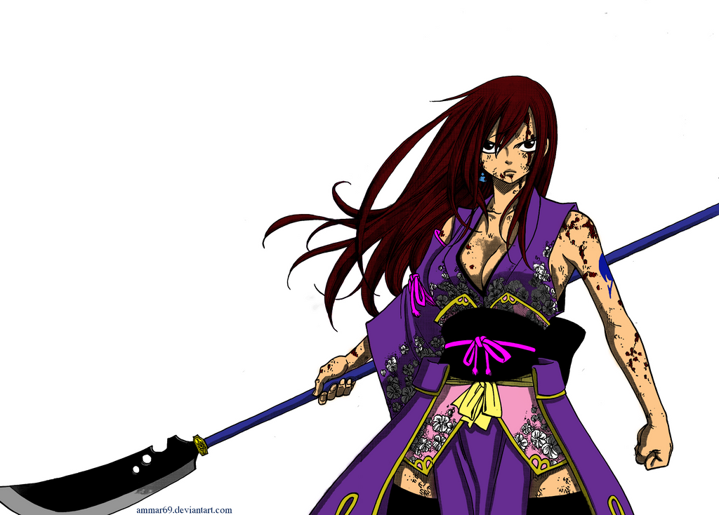 how to draw erza scarlet robe of yuen