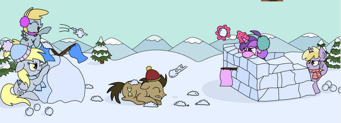 Snowball Fight by Graciegirl328