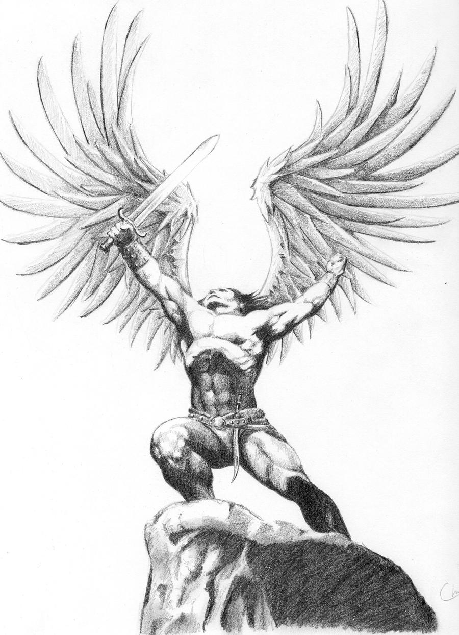 warrior angel by cirker on deviantart. Black Bedroom Furniture Sets. Home Design Ideas