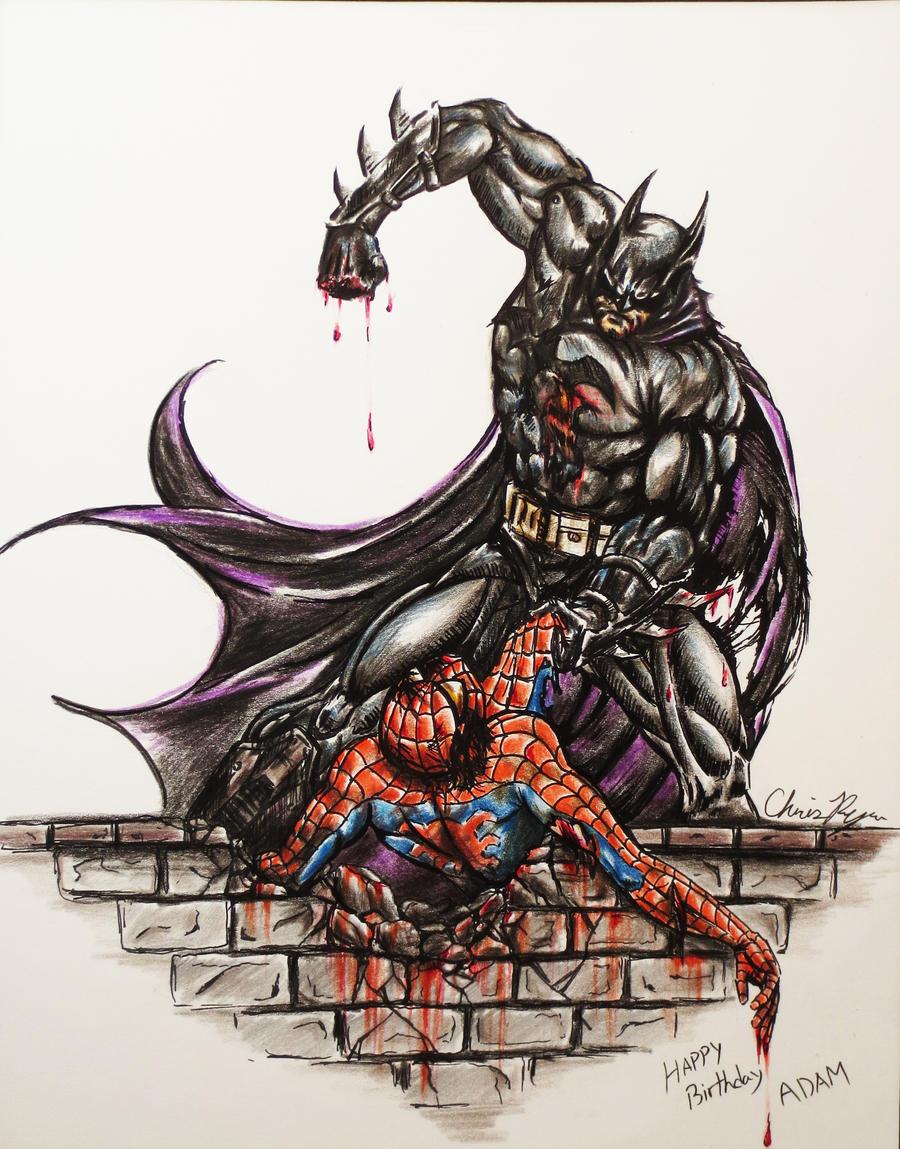 Batman vs Spiderman by Cirker