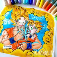 Granddaddy-Sensei - Goku/Pan (DBS) by saiyanbura