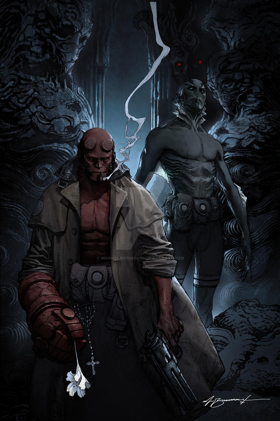 HELLBOY by MichaelBroussard