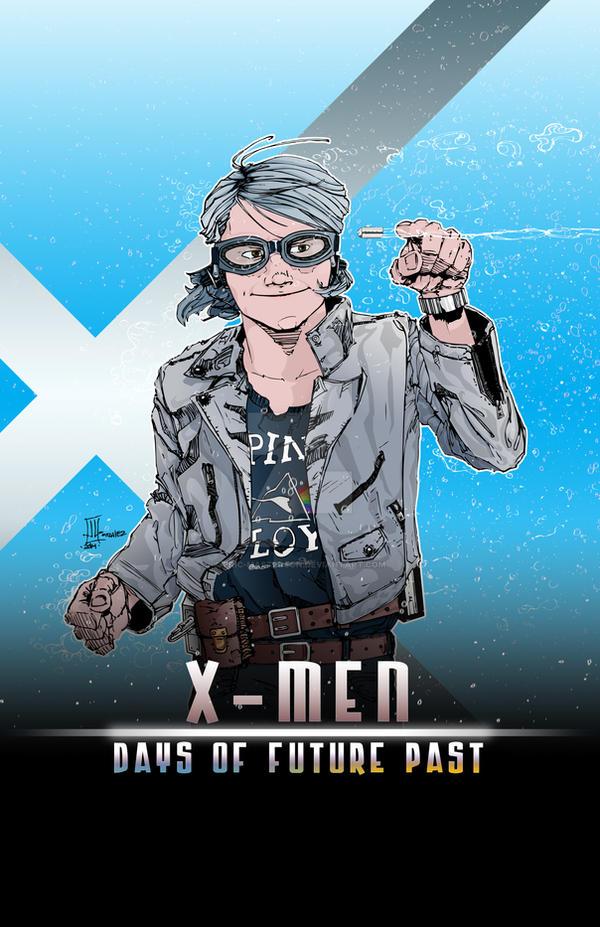quicksilver xmen days of future past by ericmasterson