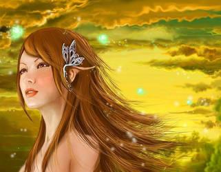 wind-girl by cnartist