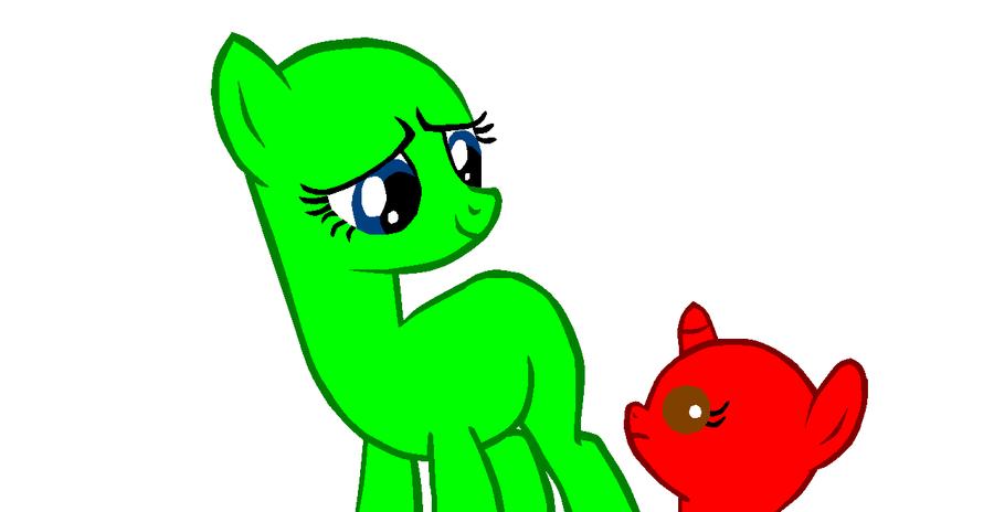 Hey little filly. - Pony Base 2 (second base!) by kimmycub1234