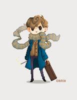 Newt Scamander by 0hria