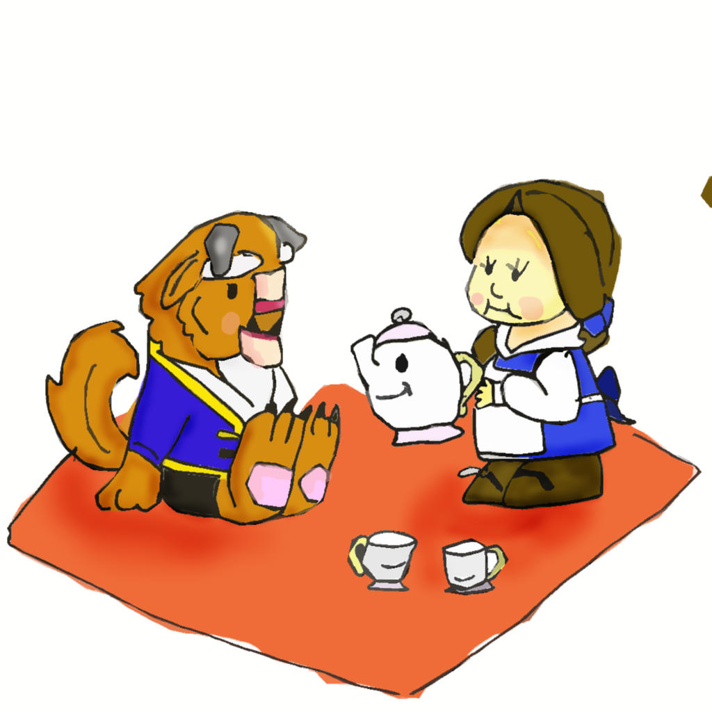 Beauty and the Beast Cute Tea Party by weepingconk on ...