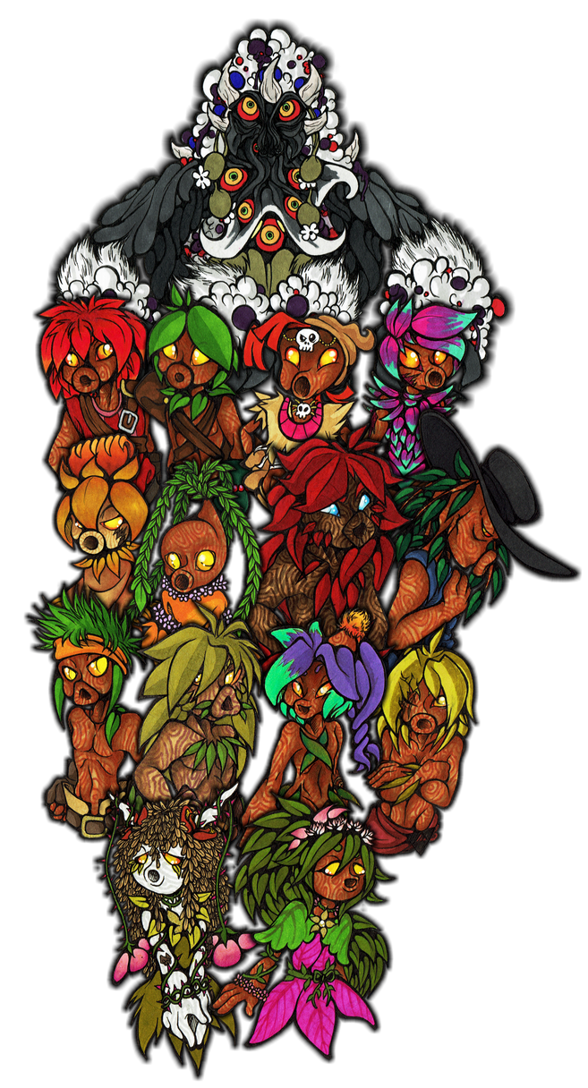 People of bark and leaves by Franken-Fish