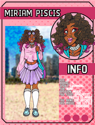 ((LoZ School AU)) Miriam's character card by Franken-Fish