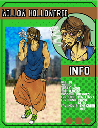 ((LoZ School AU)) Willow's character card by Franken-Fish