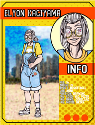 ((LoZ School AU)) Elyon's character card by Franken-Fish