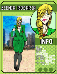 ((LoZ School AU)) Zee's character card by Franken-Fish